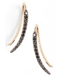 Kismet by Milka | Black 'lumiere' Diamond Ear Crawlers | Lyst
