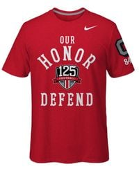 Nike - Red Men's Short-sleeve Ohio State Buckeyes Classic Arch 2 T-shirt for Men - Lyst