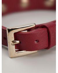 Valentino - Red Small Rockstud Bracelet - Lyst