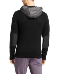 BOSS Green - Black Cotton Sweater 'Min' for Men - Lyst