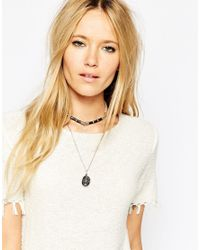 ASOS - Multicolor Multirow Eclectic Shard Choker Necklace - Lyst