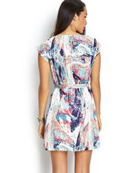 Forever 21 - Multicolor Silk-blend Floral Dress - Lyst