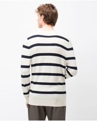 Zara | Black Striped Sweater for Men | Lyst