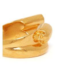 Alexander McQueen | Metallic Crystal Stud Ring | Lyst