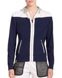 Monreal London | Blue Relaxed Hooded Zip-up Jacket | Lyst