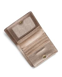 MICHAEL Michael Kors - Pink Jet Set Travel Flap Card Holder - Lyst