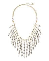 Nakamol | Metallic Diamond-Beaded Fringe Necklace | Lyst