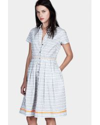 lemlem | Gray Fitted Shirt Dress | Lyst