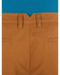 Racing Green - Brown Young Flat Front Chino Shorts for Men - Lyst