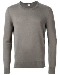 Massimo Alba - Gray Crew Neck Sweater for Men - Lyst