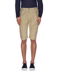 Just Cavalli - Natural Bermuda Shorts for Men - Lyst