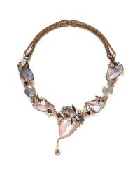 Erickson Beamon | Multicolor 'marchesa' Iridescent Gemstone Necklace | Lyst