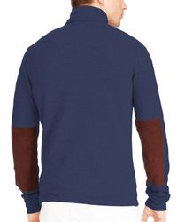 Ralph Lauren - Blue Polo French Terry Mockneck Pullover for Men - Lyst