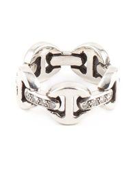 Hoorsenbuhs   Metallic Tri-link Diamond Ring   Lyst