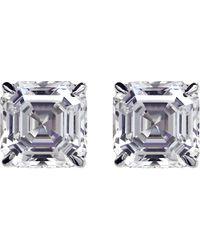 Carat* | Metallic Asscher 2ct Solitaire Stud Earrings | Lyst