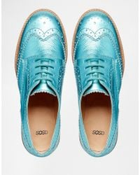 ASOS - Black Moral Leather Brogues - Lyst
