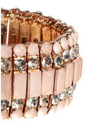 ALDO - Pink Etalema Stone Stretch Bracelet - Lyst