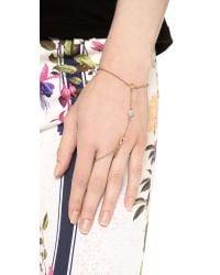 Rebecca Minkoff - Metallic Crystal Hand Chain - Lyst