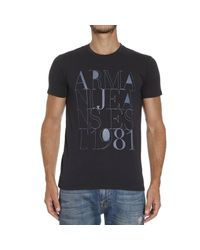 Armani Jeans - Blue T-shirt for Men - Lyst