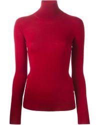Ermanno Scervino - Red Turtle Neck Sweater - Lyst