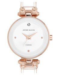 Anne Klein - Metallic Diamond Marker Bangle Watch - Lyst