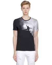 Bikkembergs | Black Martial Arts Print Cotton Jersey T-shirt for Men | Lyst