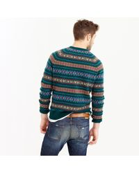J.Crew - Multicolor Lambswool Fair Isle Sweater In Forest for Men - Lyst