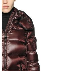 Moncler - Red Berre Brilliant Nylon Down Jacket - Lyst