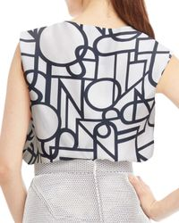 Raoul - Multicolor Drew Sleeveless Draped Blouse - Lyst