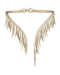 Eddie Borgo   Metallic Prickle Collar Necklace With Crystals   Lyst