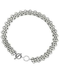 T Tahari - Metallic Brick Link Chain Necklace - Lyst