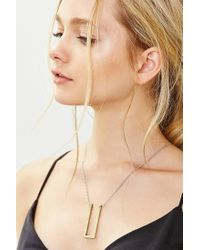 Urban Outfitters | Metallic Protective Bar Pendant Necklace | Lyst