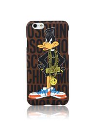 "Moschino - Multicolor Looney Tunes ""daffy Duck"" Iphone 6 Case - Lyst"