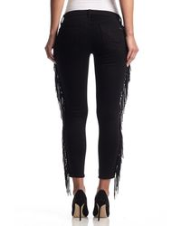 Hudson Jeans - Black Luna Super Skinny Crop - Lyst