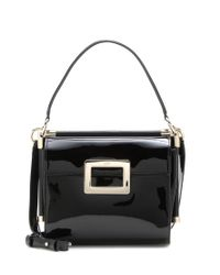 Roger Vivier - Black Miss Viv' Carré Small Patent Leather Shoulder Bag - Lyst