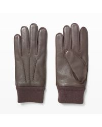 Club Monaco | Brown Rib Cuff Glove for Men | Lyst