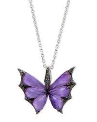 Stephen Webster - Purple Fly By Night Amethyst Bat-Moth Pendant Necklace - Lyst