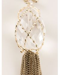 Rosantica - Metallic Tassel Necklace - Lyst