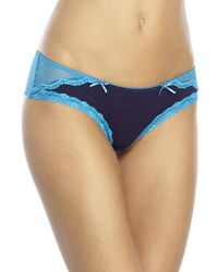 Honeydew Intimates | Blue Scarlette Lace Hipster Panty | Lyst