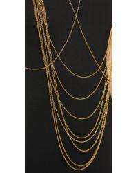 Chan Luu - Metallic Draping Body Chain - Gold - Lyst