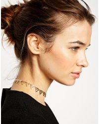 ASOS | Metallic Cutout Triangle Choker Necklace | Lyst