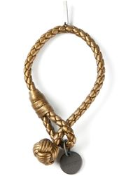 Bottega Veneta - Metallic Braided Bracelet - Lyst