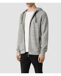 AllSaints - Gray Etra Hoody for Men - Lyst