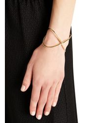 Elizabeth and James - Metallic Windrose 22Kt Gold Plated Cuff - Lyst