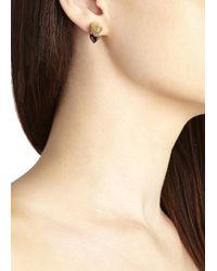 Iosselliani | Multicolor Panther Gunmetal Embellished Earrings | Lyst