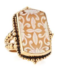 Stephen Dweck - Metallic Frosted Rock Crystal Motherofpearl Ring Size 7 - Lyst