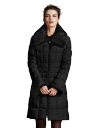 Laundry by Shelli Segal | Black Wing Collar Puffer Coat | Lyst