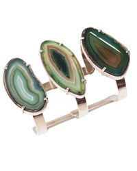 Isabel Englebert | Multicolor Earth Green Agatha Cuff Silver | Lyst