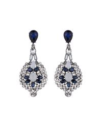 Mikey | Blue Fillagary Hanging Crystal Earring | Lyst