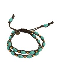 Tai | Blue Two Strand Turquoise Cinch Bracelet | Lyst